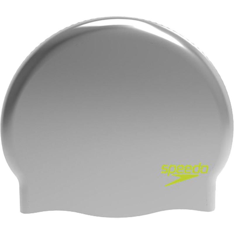 Speedo Junior Silicone Swimming Cap Silver/Lime