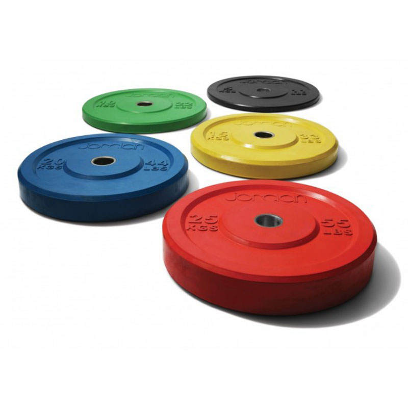 Jordan Olympic Coloured Rubber Bumper Plate