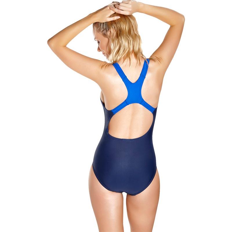 Speedo Sports Logo Medalist Swimsuit Navy/Beautiful Blue