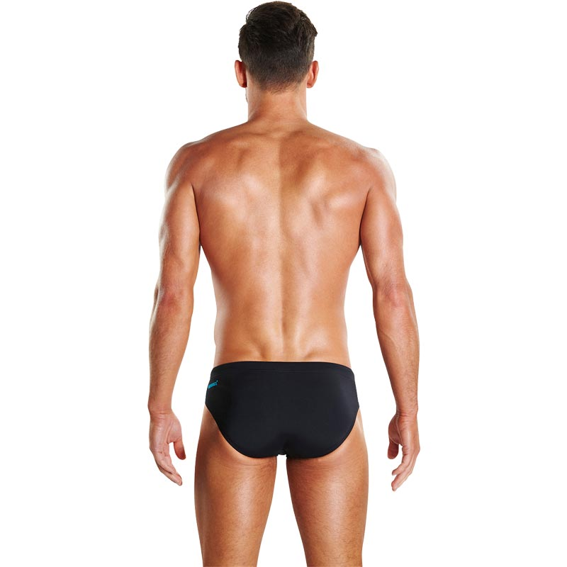 Speedo Boom Splice Brief Black/Turquoise
