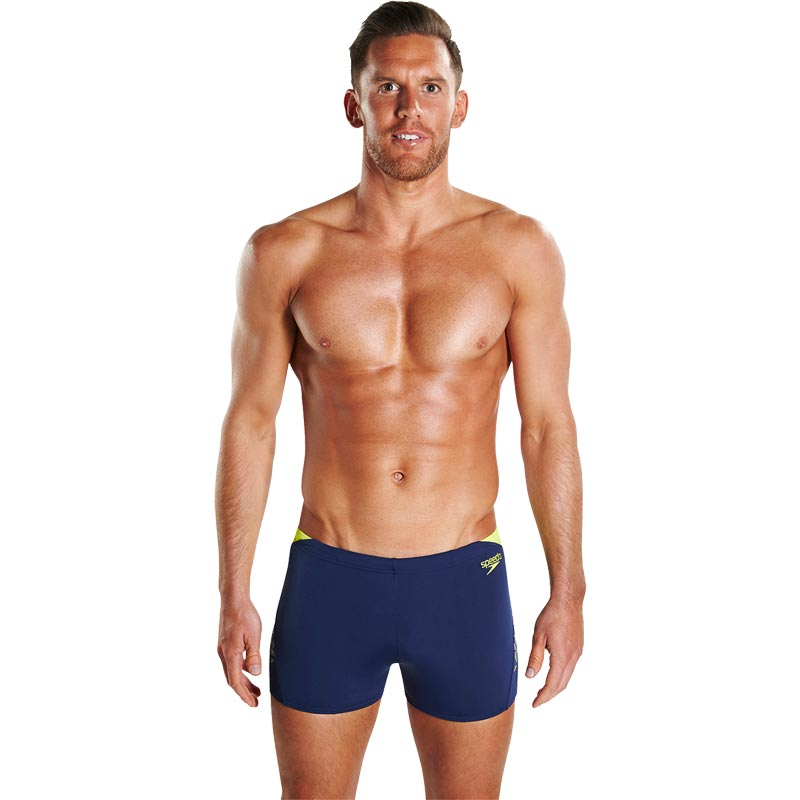 Speedo Boom Splice Aquashort Navy/Lime Punch