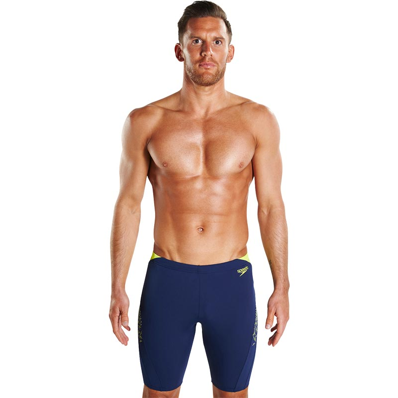 Speedo Boom Splice Jammer Navy/Lime Punch