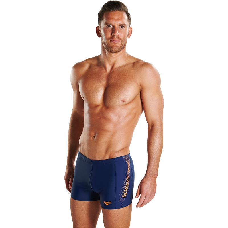 Speedo Sports Logo Aquashort Navy/Sunset Orange
