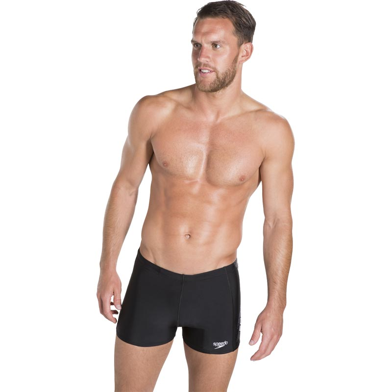 Speedo Sports Logo Aquashort Black/White