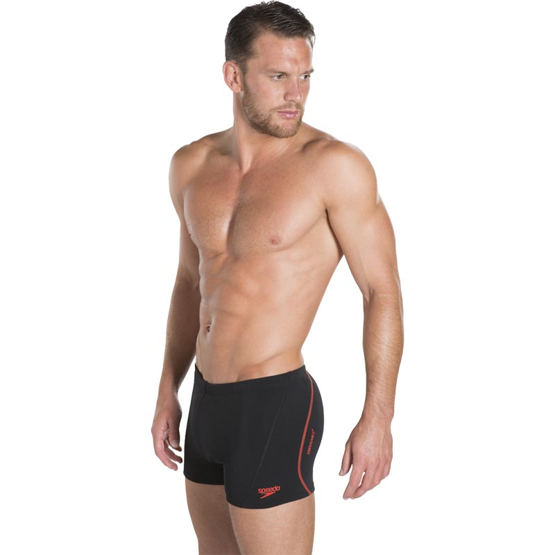 Speedo Essential Splice Aquashort Black/Lava Red