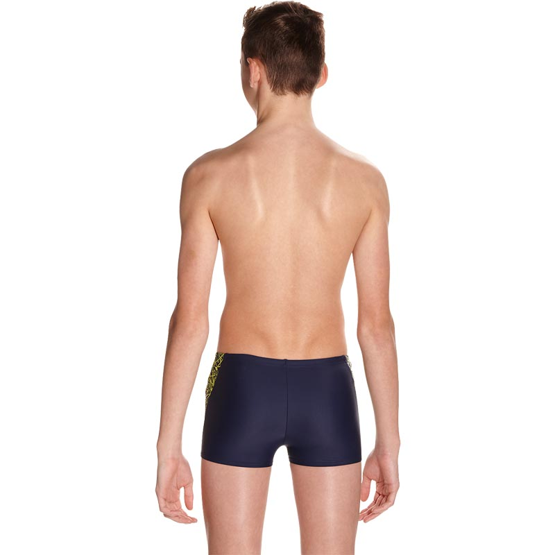Speedo Boys Boom Splice Aquashort Navy/Lime Punch
