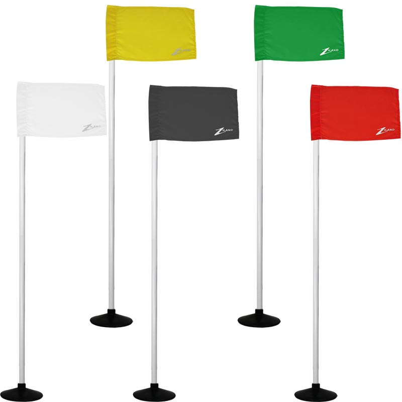 Ziland Club Corner Pole Base and Flag 4 Set