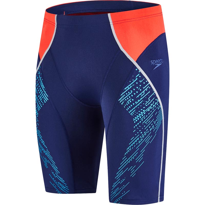 Speedo Fit Panel Jammer Navy/Lava Red/Turquoise