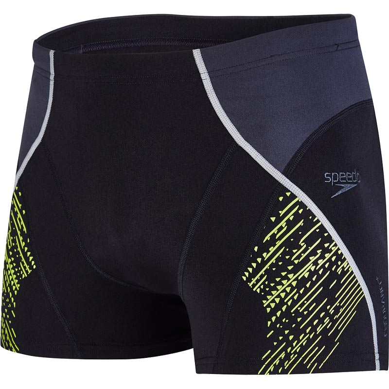 Speedo Fit Panel Aquashort Black/Oxid Grey/Lime Punch
