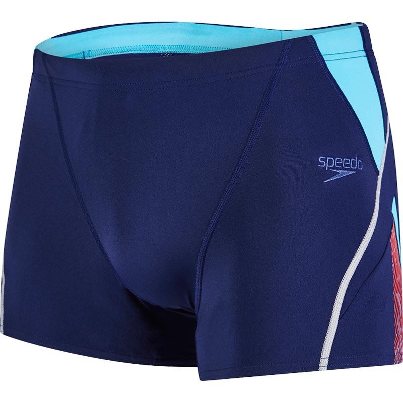 Speedo Fit Splice Aquashort Navy/Turquoise/Lava Red