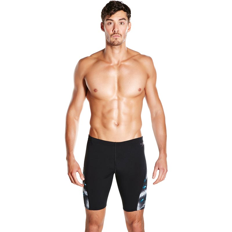 Speedo Allover Digital Panel Jammer Black/White/Bondi