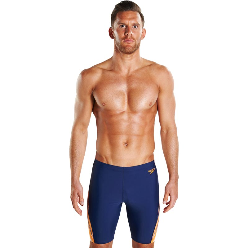 Speedo Placement Curve Jammer Navy/Sunset Orange