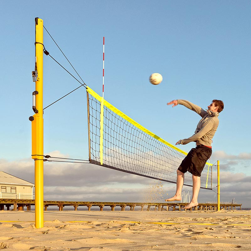 how to set in beach volleyball