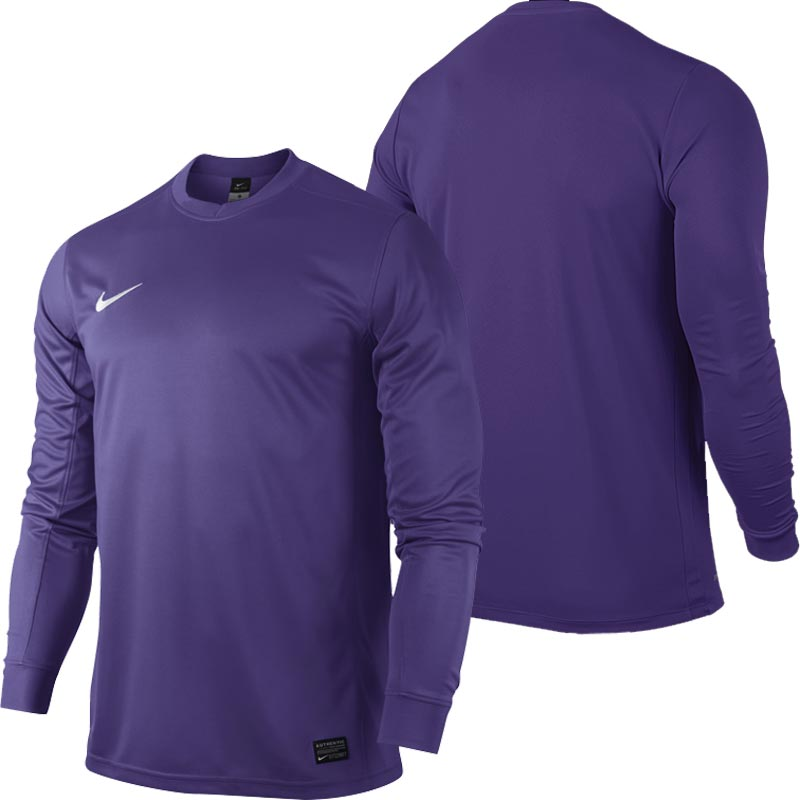 Nike Park VI Long Sleeve Junior Football Shirt Court Purple