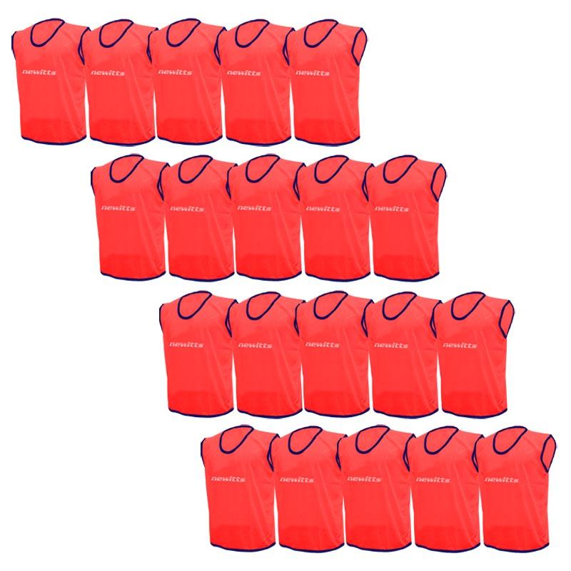 Plain Training Bibs 20 Pack Red