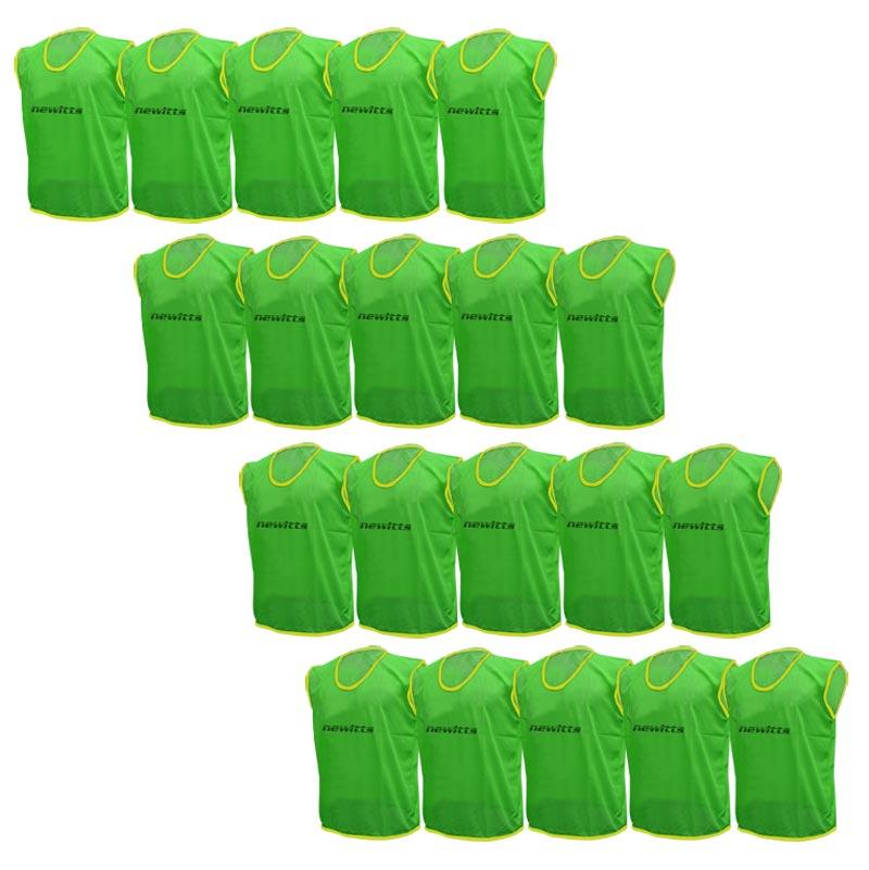 Plain Training Bibs 20 Pack Green