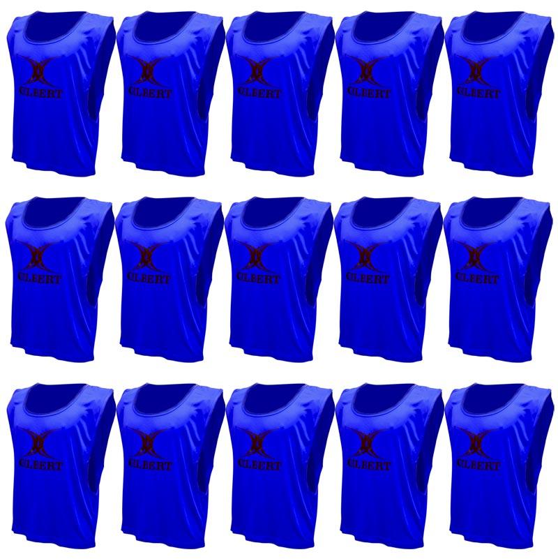 Gilbert Training Bibs 15 Pack Blue