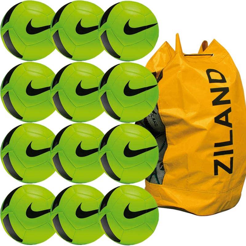 Nike Pitch Training Football 12 Pack Electric Green