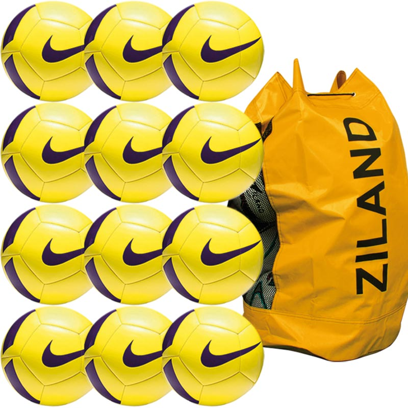 Nike Pitch Training Football 12 Pack Yellow