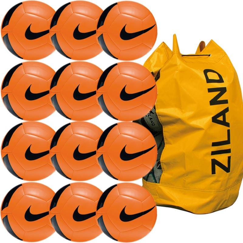 Nike Pitch Training Football 12 Pack Total Orange