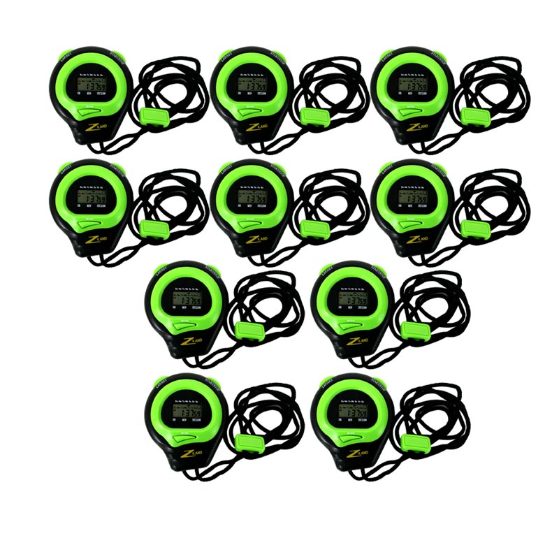 Ziland Stopwatch And Lanyard 10 Pack