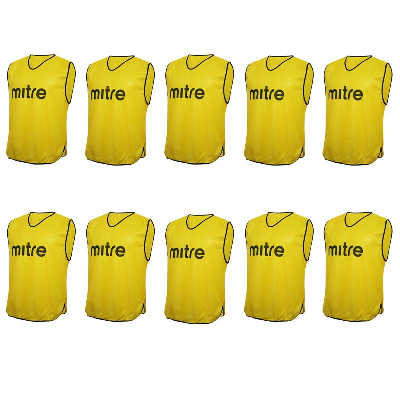 Mitre Pro Training Bib 10 Pack Yellow