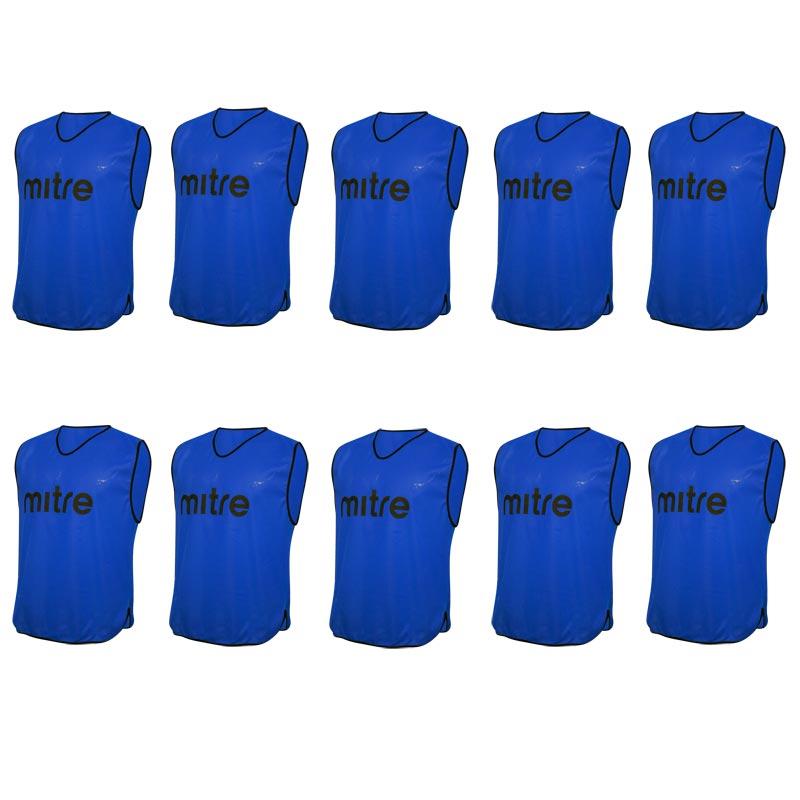 Mitre Pro Training Bib 10 Pack Blue