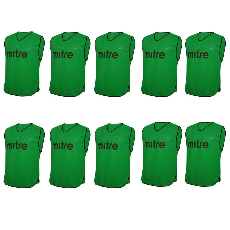 Mitre Pro Training Bib 10 Pack Green