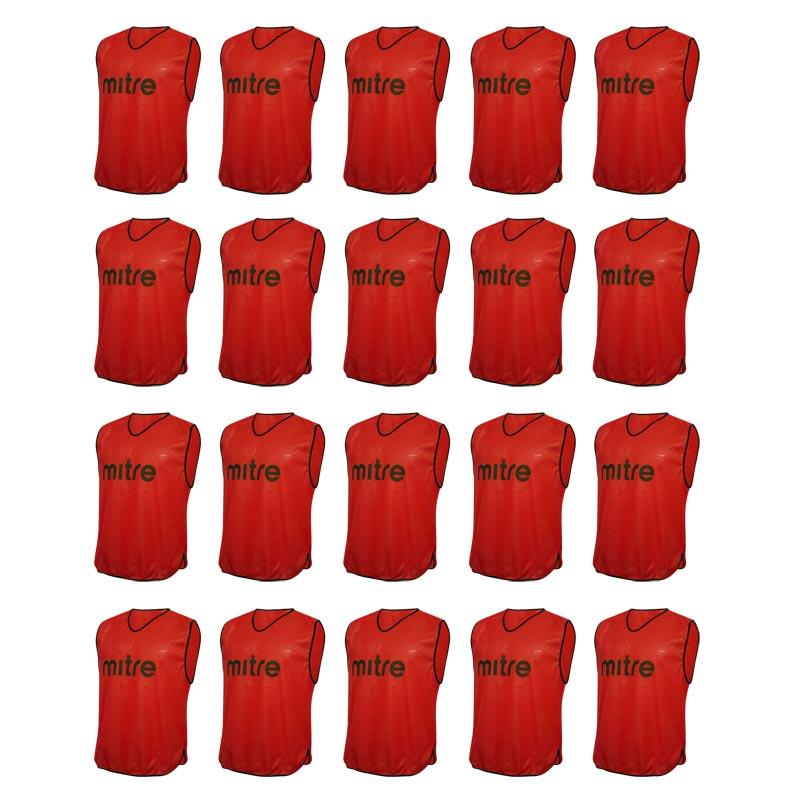Mitre Pro Training Bib 20 Pack Red