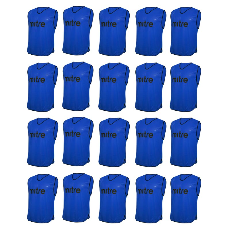 Mitre Pro Training Bib 20 Pack Blue