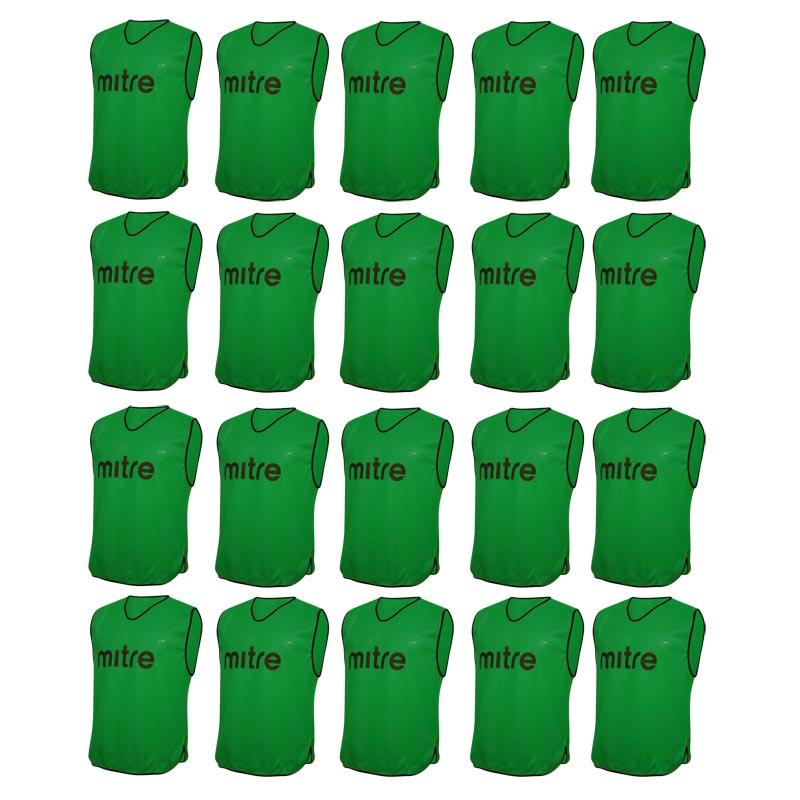 Mitre Pro Training Bib 20 Pack Green