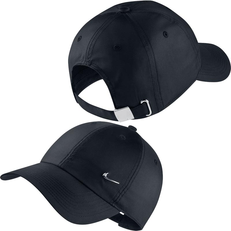 728a2c823cd32 Nike Heritage 86 Metal Swoosh Cap Black. Tap to expand