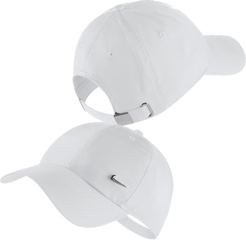07369249fb2 Nike Heritage 86 Metal Swoosh Cap White. Tap to expand