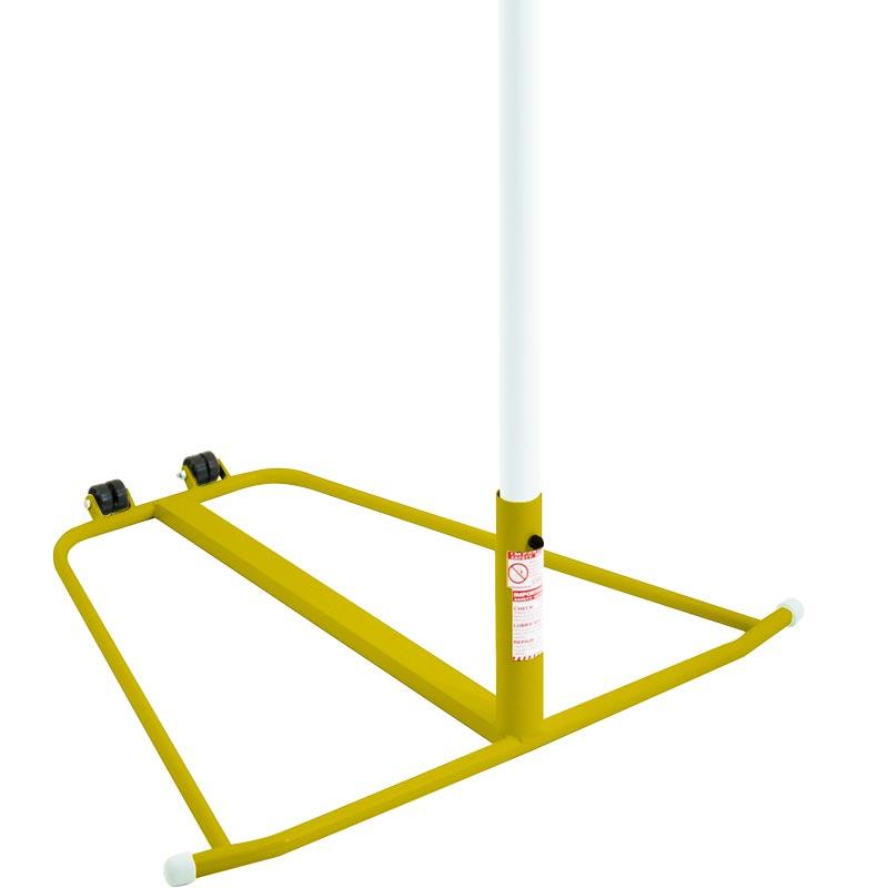 Harrod Sport Wheelaway Netball Posts Yellow