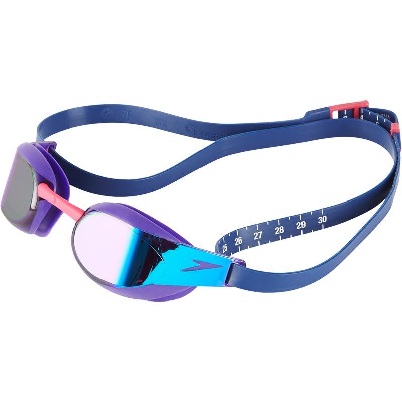 Speedo Fastskin Elite Mirror Swimming Goggles Violet/Blue