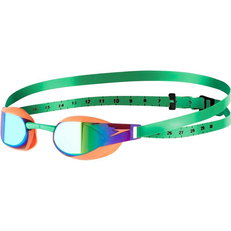 Speedo Fastskin Elite Mirror Swimming Goggles Fluo Orange/Lawn Green