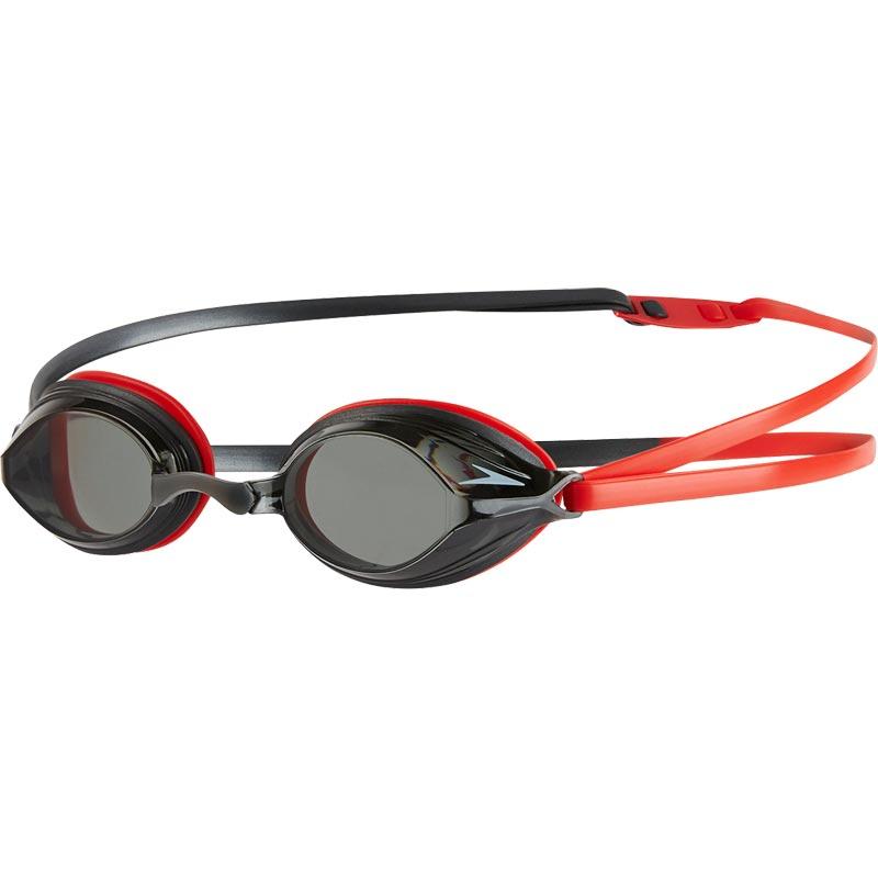 Speedo Vengeance Swimming Goggles Red/Grey/Smoke