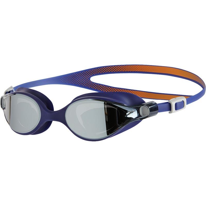 Speedo V-Class Virtue Mirror Female Swimming Goggles Fluo Orange/Ultramarine