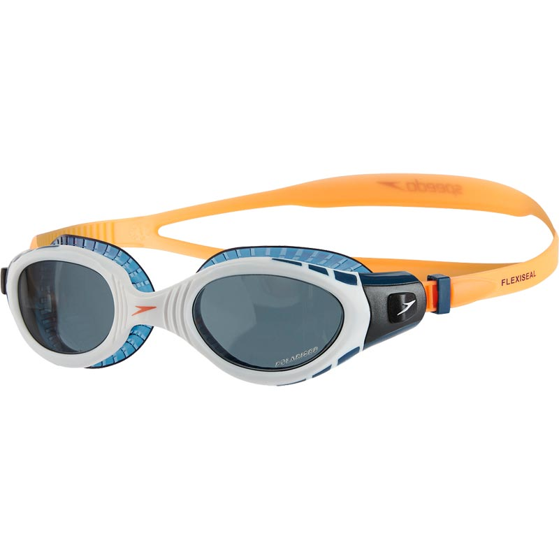 Speedo Futura Biofuse Flexiseal Triathlon Swimming Goggle Orange/White/Smoke