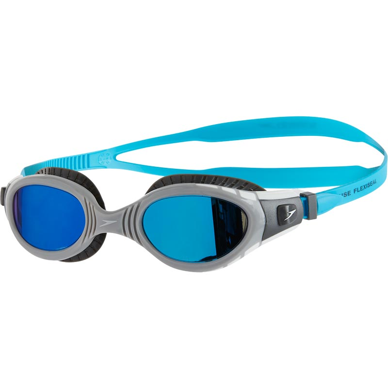 Speedo Futura Biofuse Flexiseal Mirror Swimming Goggles Charcoal/Grey/Blue