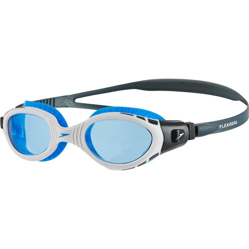 Speedo Futura Biofuse Flexiseal Swimming Goggles Grey White Blue 3e2463d1dec3