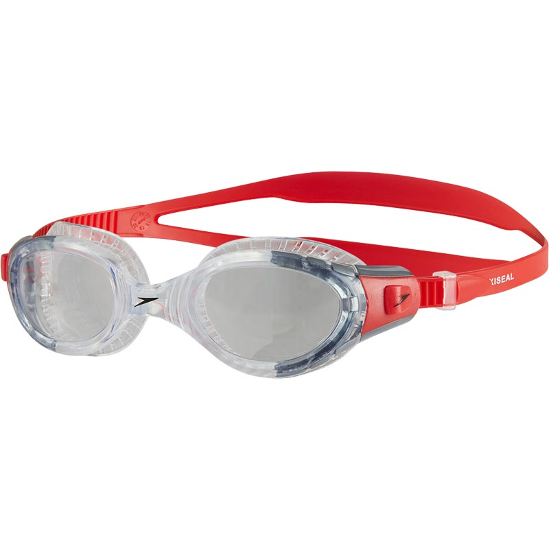 Speedo Futura Biofuse Flexiseal Swimming Goggle Lava Red/Clear