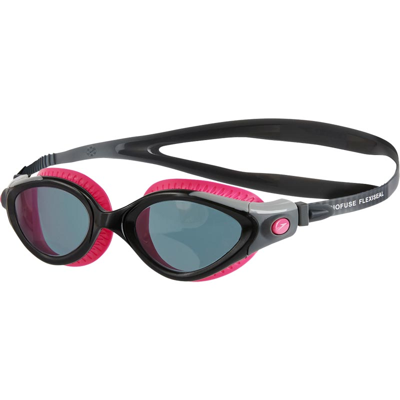 Speedo Futura Biofuse Flexiseal Female Swimming Goggles Pink/Black/Smoke