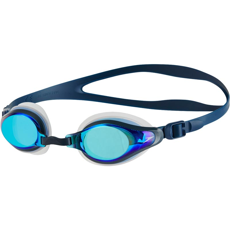 Speedo Mariner Supreme Mirror Swimming Goggles Clear/Navy/Blue