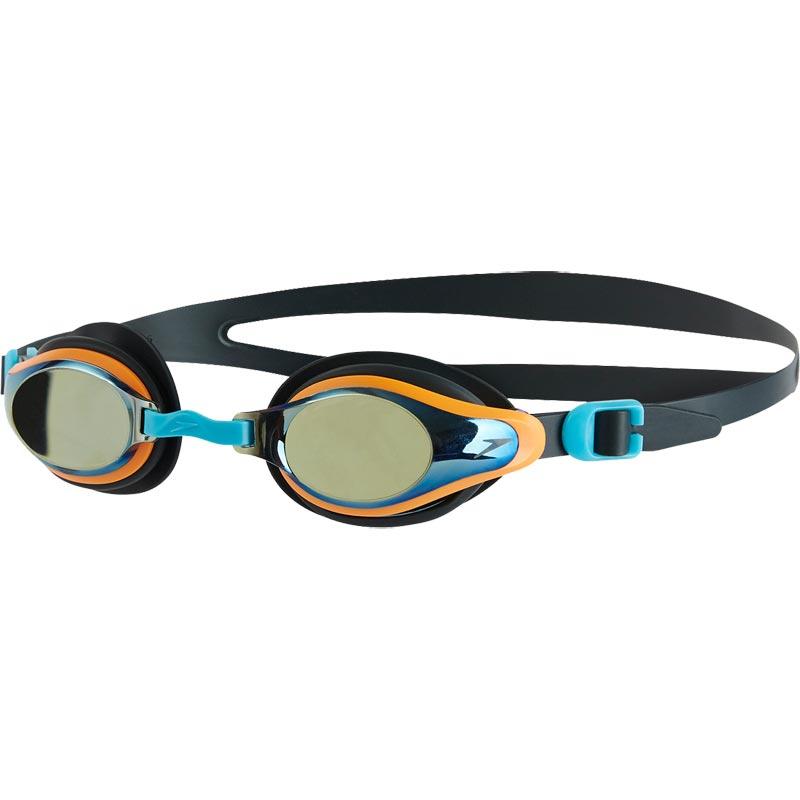 Speedo Junior Mariner Supreme Mirror Swimming Goggle Grey/Jaffa/Titanium