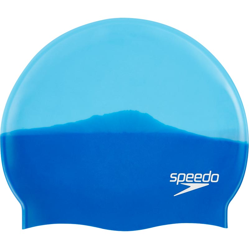 Speedo Multi Colour Senior Silicone Swimming Cap Neon Blue/Japan Blue