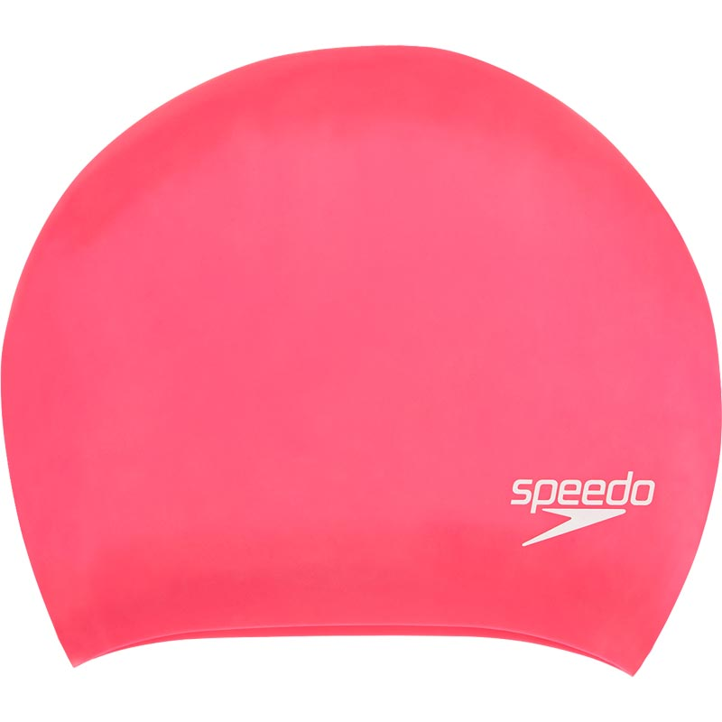 Speedo Long Hair Senior Silicone Swimming Cap Ecstatic Pink