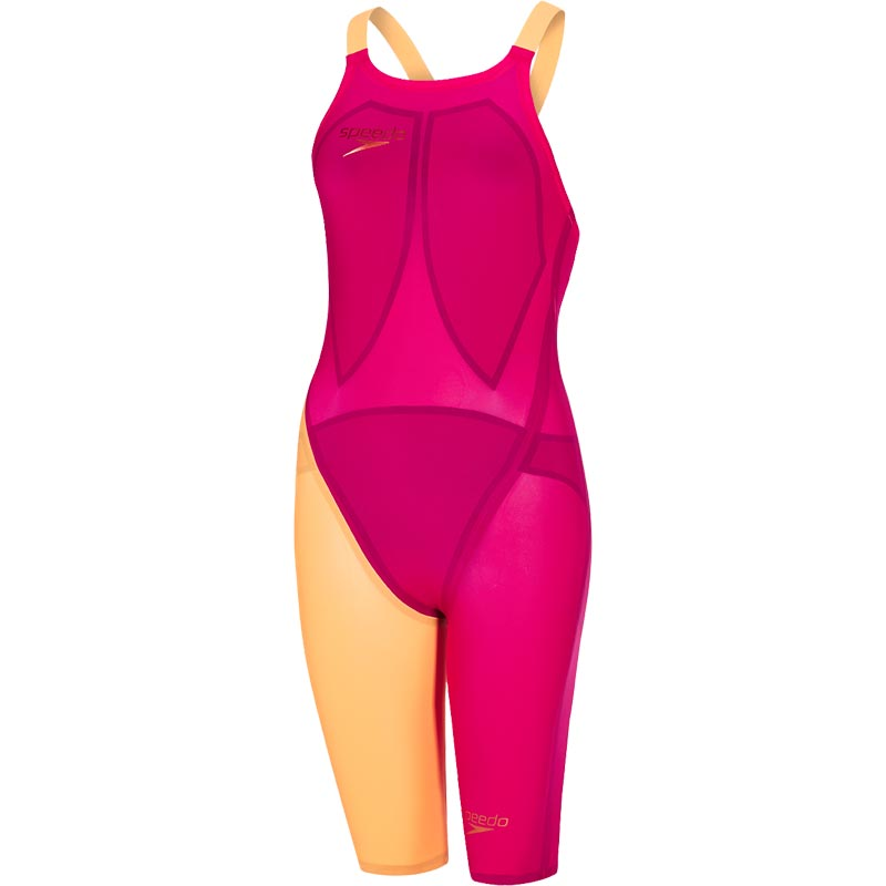 b38487fe2be Speedo Fastskin LZR Racer Elite 2 Closedback Kneeskin Magenta/Fluo Orange.  Tap to expand