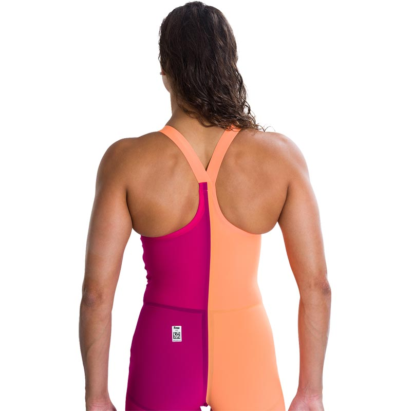 Speedo Fastskin LZR Racer Elite 2 Closedback Kneeskin Magenta/Fluo Orange