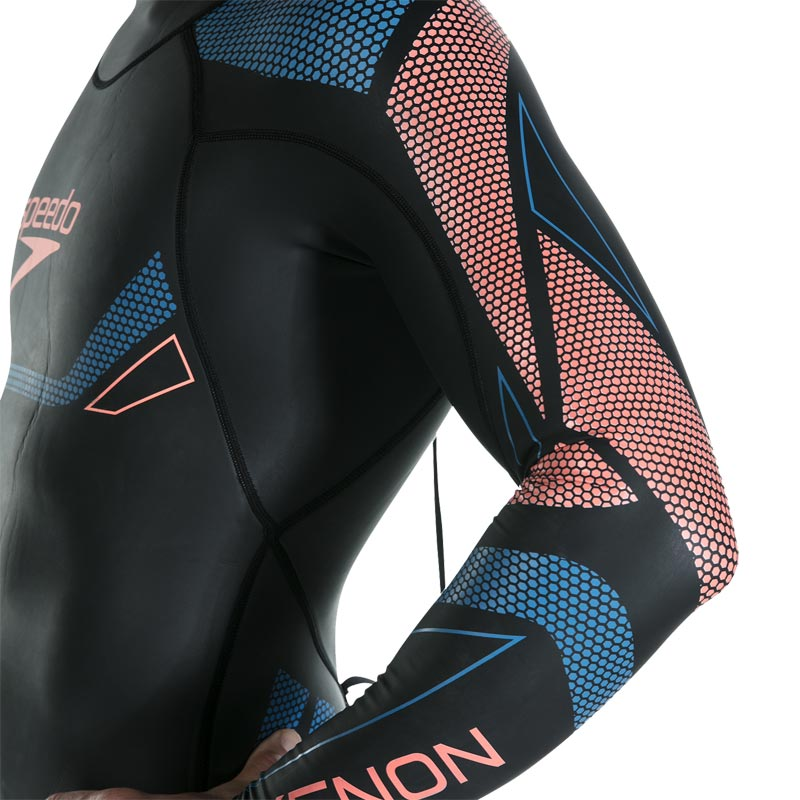Speedo Fastskin Xenon Thin Swim Full Sleeve Wetsuit Black/Amparo Blue/Siren Red